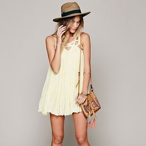 Free People FP One Paisley Vine Dress in Yellow